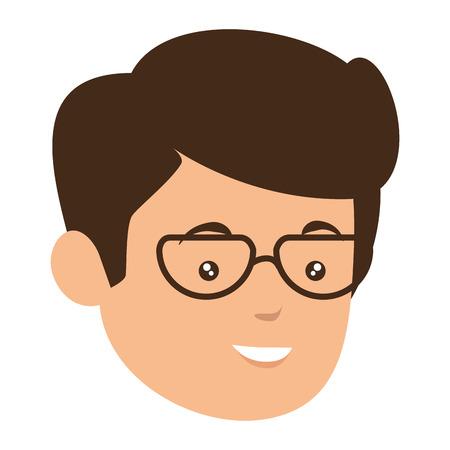 zakenman cartoon pictogram over witte achtergrond vectorillustratie Stock Illustratie