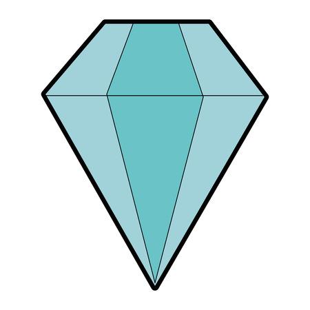 Icône de diamant sur fond blanc illustration vectorielle Banque d'images - 84892827