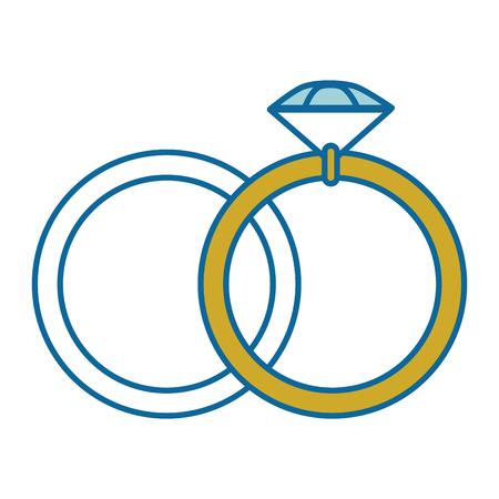 Bague de diamant icône sur fond blanc illustration vectorielle Banque d'images - 84892475