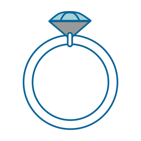 diamond ring icon over white background vector illustration Stock fotó - 84892293