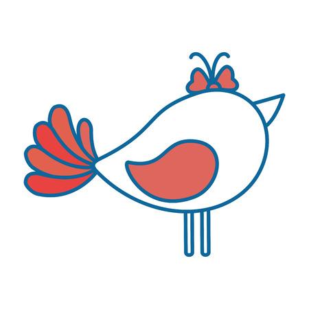 cute dove icon over white background colorful design vector illustration
