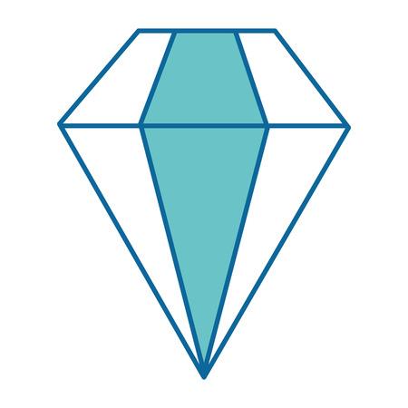 diamond icon over white background vector illustration