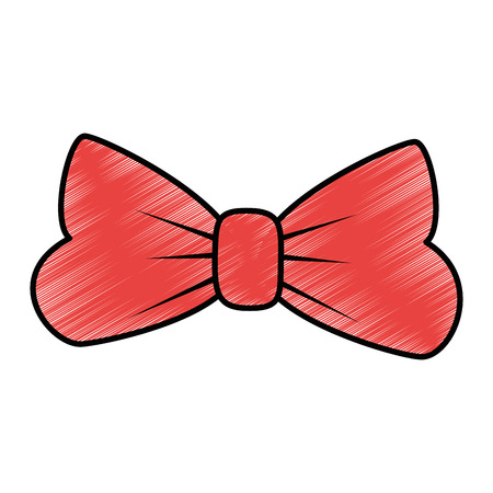 bow tie icon over white background vector illustration