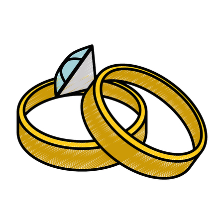 diamond ring icon over white background vector illustration Illustration