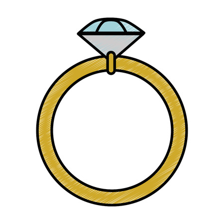 diamond ring icon over white background vector illustration 向量圖像