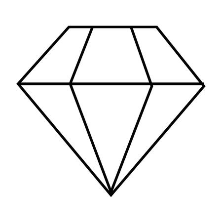 Diamond icon over white background illustration