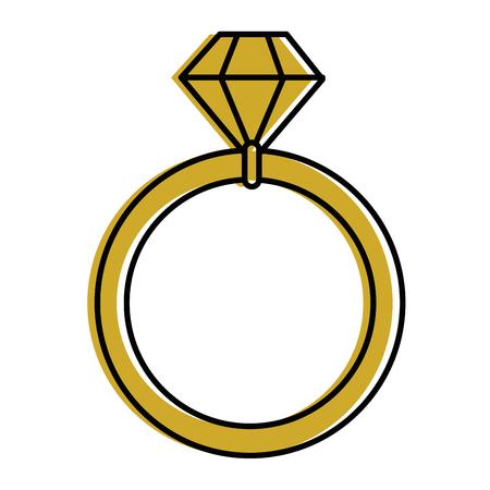 Icône de l'anneau de diamant sur fond blanc illustration vectorielle Banque d'images - 84891294