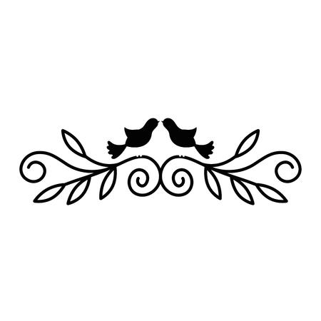 흰색 배경 벡터 일러스트 레이 션 위에 몇 비둘기 아이콘으로 빈티지 장식품