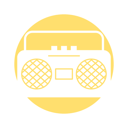 radio music player icon vector illustration design