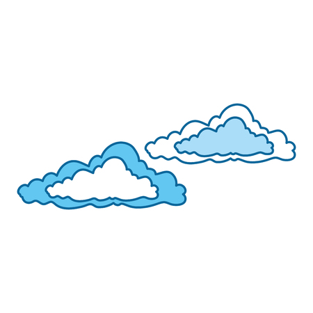 clouds sky isolated icon vector illustration design