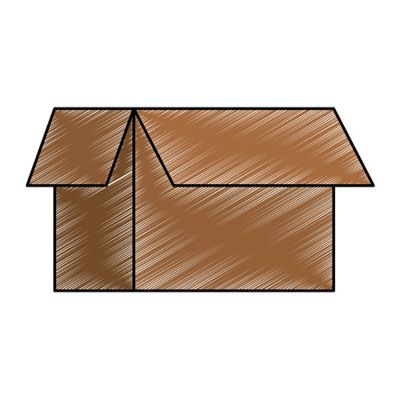 carton box isolated icon vector illustration design