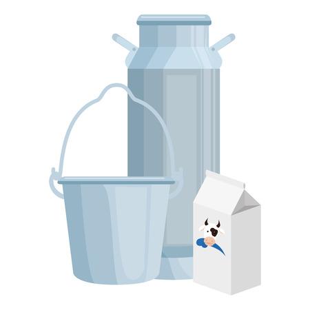 cow Milk set packings vector illustration design