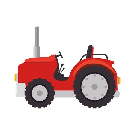 Diseño aislado del ejemplo del vector del icono del tractor de granja Foto de archivo - 84973483