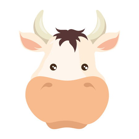 farm cow isolated icon vector illustration design