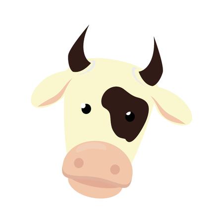 boerderij koe geïsoleerd pictogram vector illustratie ontwerp