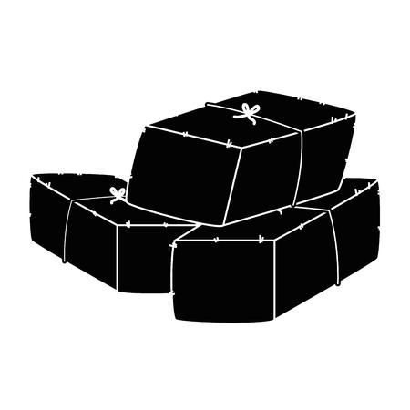 Bales of hay icon vector illustration design