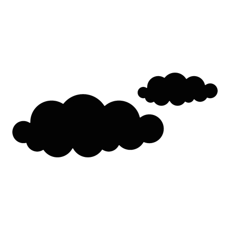 Clouds in the sky isolated icon vector illustration design Ilustração