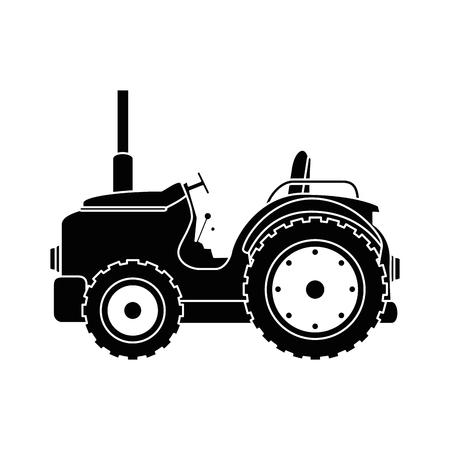 Diseño aislado del ejemplo del vector del icono del tractor de granja Foto de archivo - 84983066