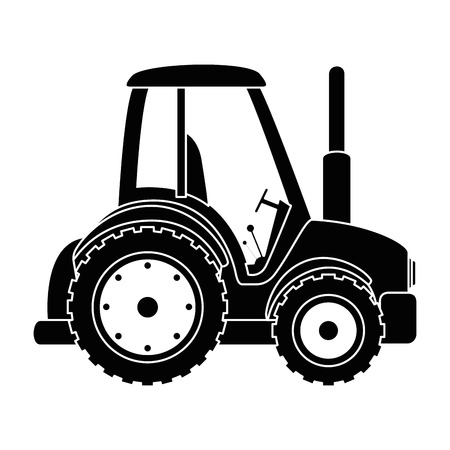Farm tractor isolated icon vector illustration design