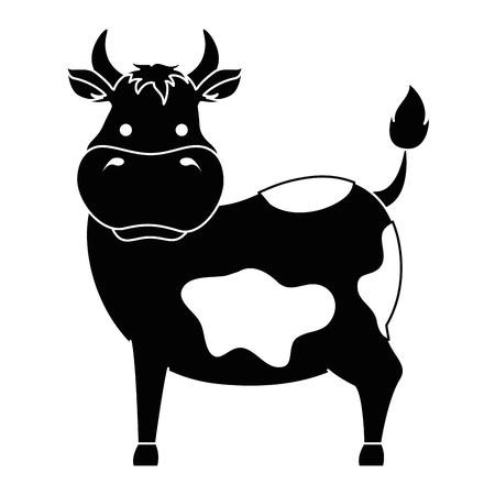ファーム牛分離アイコン ベクトル イラスト デザイン  イラスト・ベクター素材