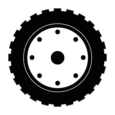 tractor tire isolated icon vector illustration design
