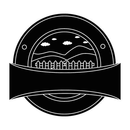 Valla de madera sello sello vector ilustración diseño Foto de archivo - 84973644