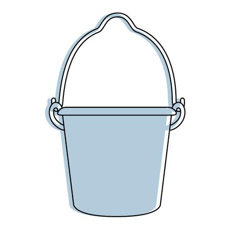 farm bucket isolated icon vector illustration design Ilustrace