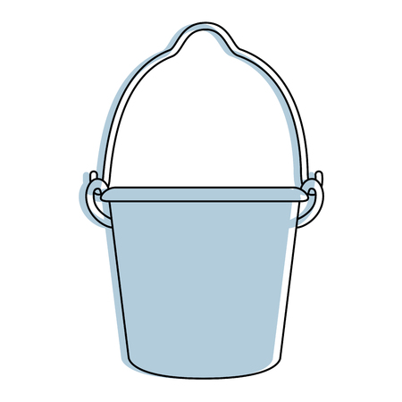 farm bucket isolated icon vector illustration design Illustration
