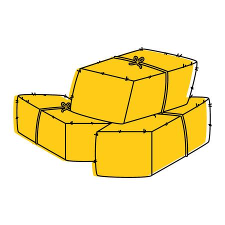 Balas de diseño del ejemplo del vector del icono del heno Foto de archivo - 84983641