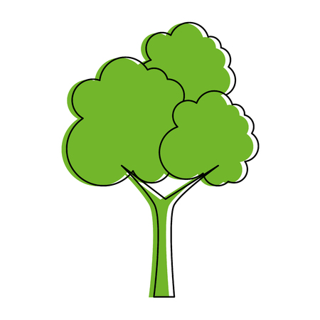 tree plant isolated icon vector illustration design Illustration