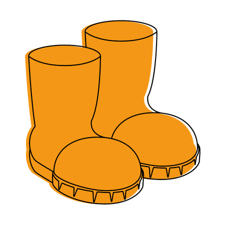 farm boots isolated icon vector illustration design Ilustração