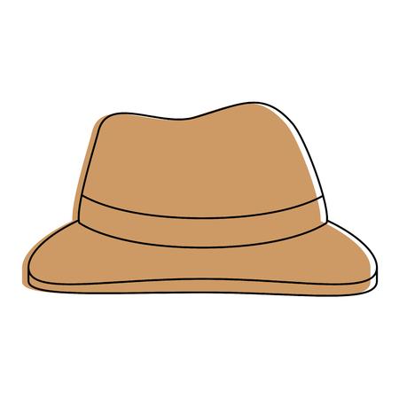 boer hoed geïsoleerd pictogram vector illustratie ontwerp