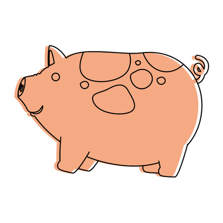 farm pig isolated icon vector illustration design