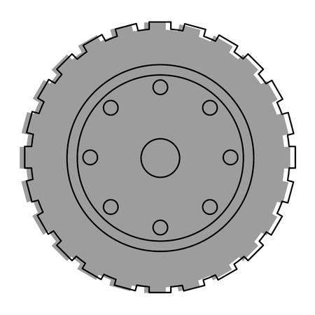 トラクター タイヤ分離アイコン ベクトル イラスト デザイン
