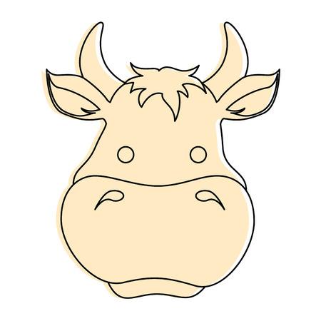 Boerderij koe geïsoleerde pictogram vectorillustratieontwerp Stockfoto - 84983648