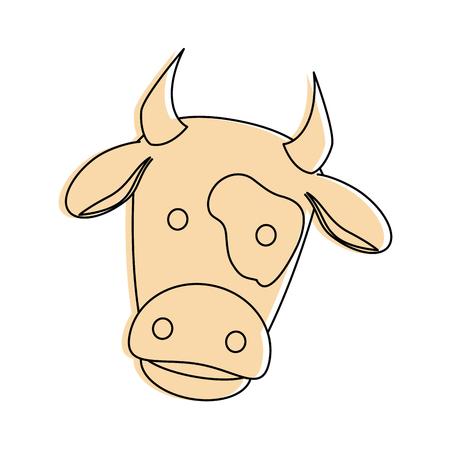Vache ferme icône isolé illustration vectorielle conception Banque d'images - 84983649