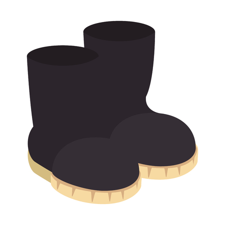 Cartoon clip art boots isolated icon illustration design.