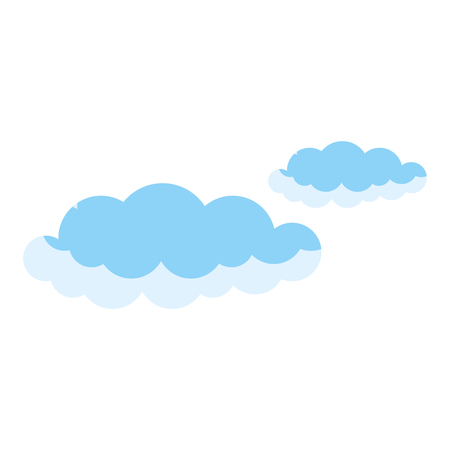 Clip art clouds sky isolated icon illustration design.