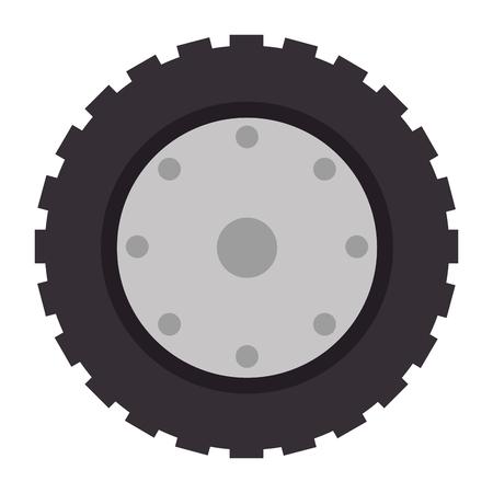 トラクタータイヤのアイコン。  イラスト・ベクター素材
