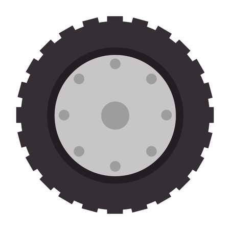 Tractor tire icon. Illustration