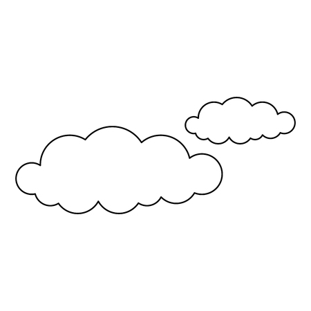 Uncolored clouds illustration.