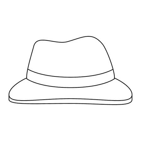 Uncolored hat illustration.