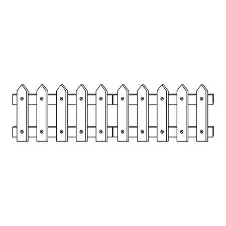Wooden fence isolated icon illustration design.