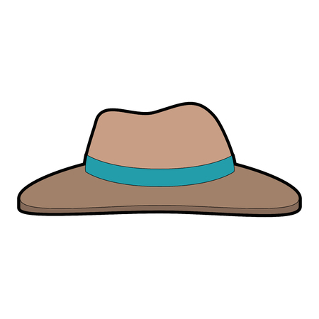 Colored cartoon illustration of  hat Ilustrace