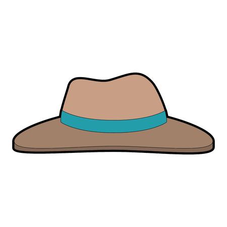 Gekleurde cartoon illustratie van hoed