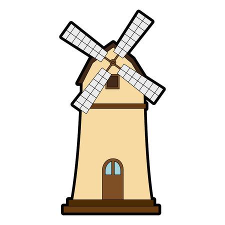 Windmill icon illustration. Illusztráció