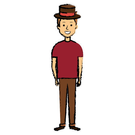 Young man with hat avatar.