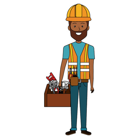 Repairman with toolbox avatar.