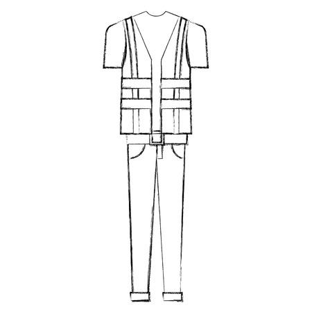 Construction worker uniform icon. Illustration