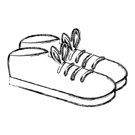 Male rubber shoes icon. Çizim